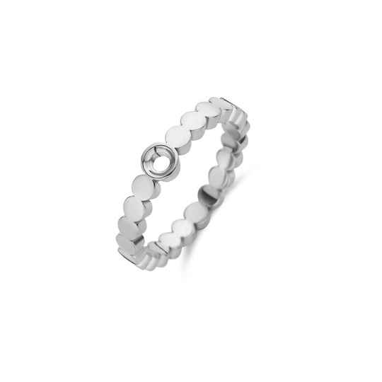 Melano twisted ring wave zilver