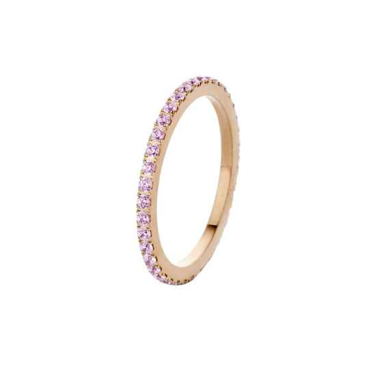 Melano friends ring sadé rosé/crystal