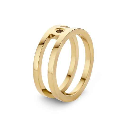 Melano twisted ring trista goud
