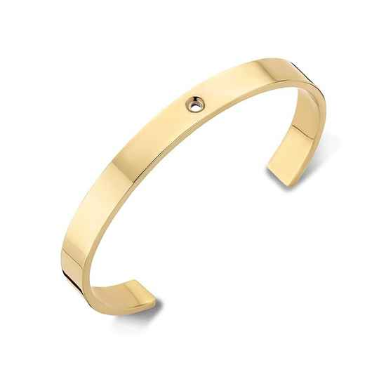 Malano twisted armband Wide Goud