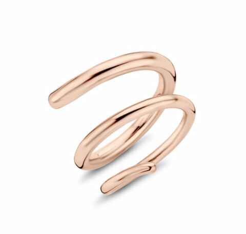 Melano twisted ring double helix goud