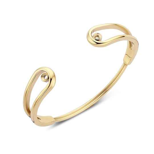 Melano twisted armband double loop goud