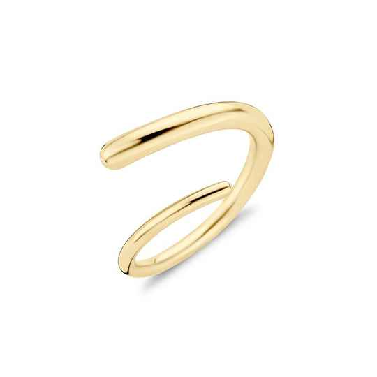 Melano friend ring single helix goud
