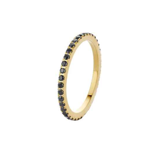 Melano friends ring sadé goud/zwart