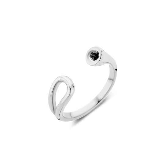 Melano twisted ring open loop zilver