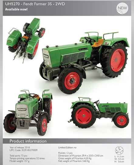 Fendt Farmer 3S 2wd  1;32