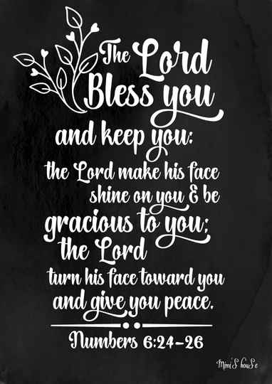 THE LORD BLESS YOU!