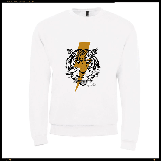 Customized Sweater Lightning Tiger