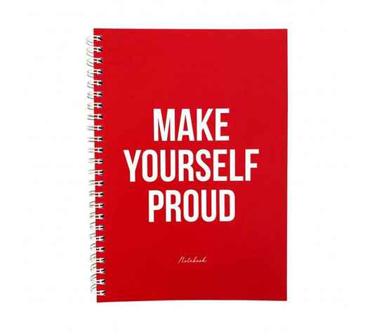 Notitieboek - Make yourself proud