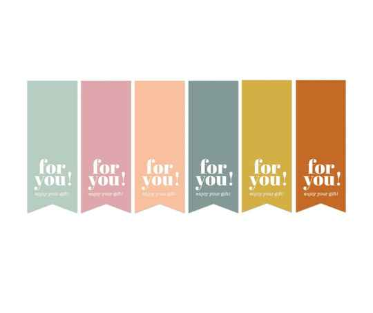 Stickerlabel - For you - enjoy your gift
