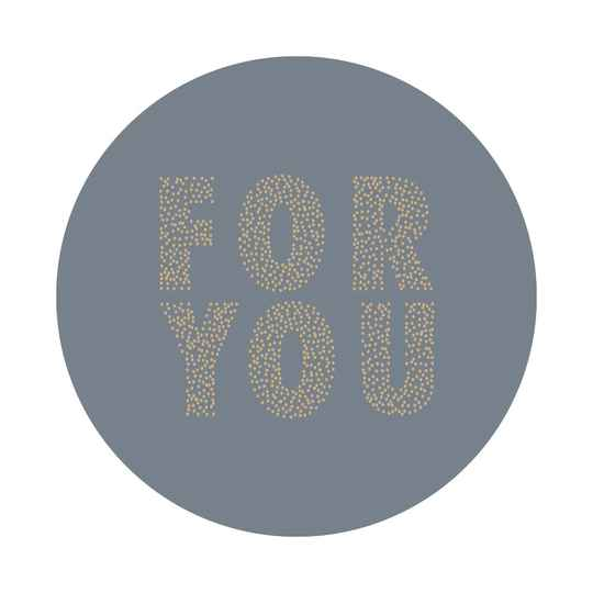 Sticker - For you / Blauw