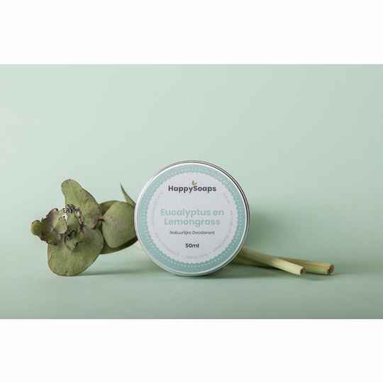 Happy Soaps Natuurlijke Deodorant - Eucalyptus and Lemongrass