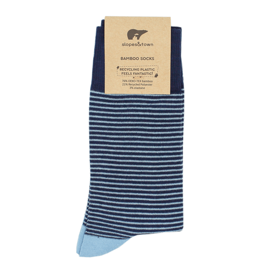 Light blue stripes Bamboo socks