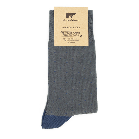 Light Grey Dots Bamboo socks