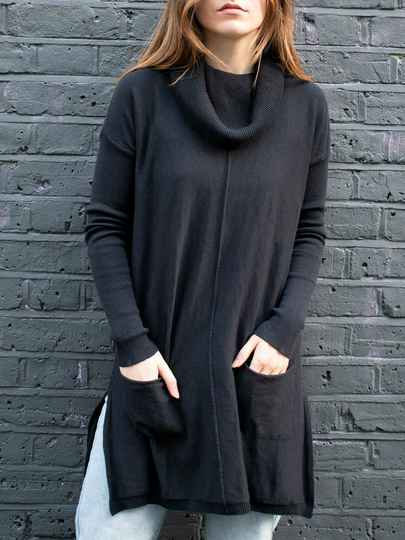 Recycled Cowl Neck Tunic