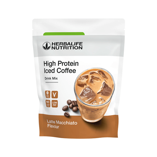 012K High Proteïn Iced Coffee Latte Macch308 gram NIEUW