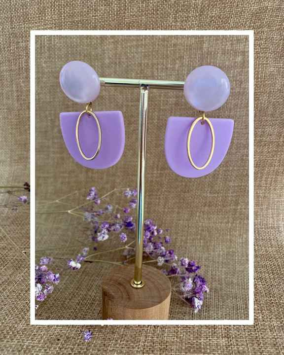 Rory Earring   Lilac