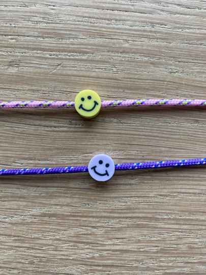 Armbandje paracord smiley