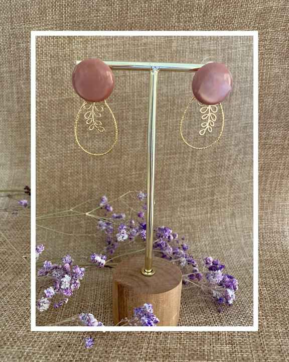 Griffin Earring   Taupe Pink