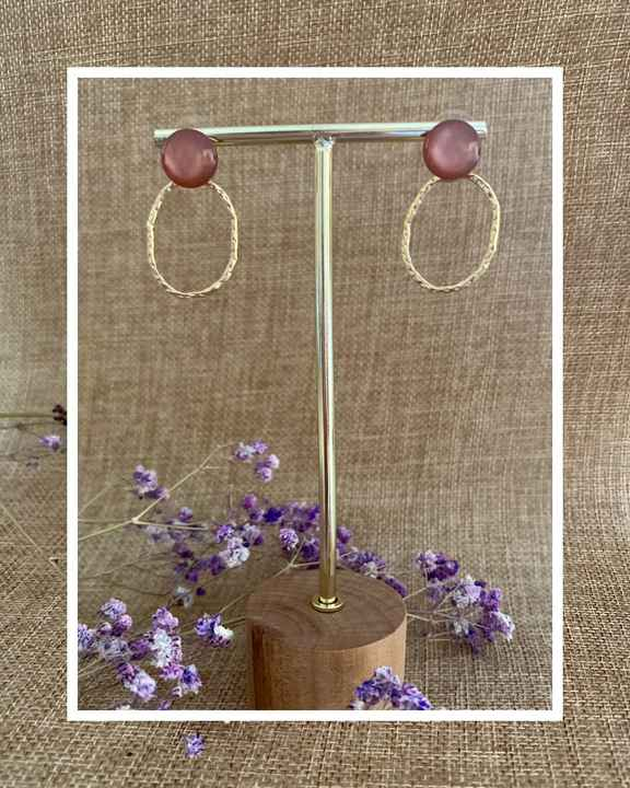 Maple Earring   Taupe Pink