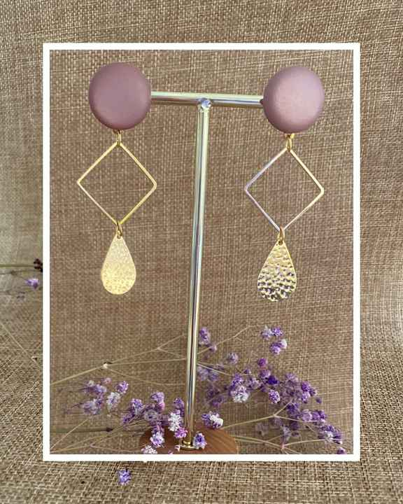 Russell Earring   Old Pink