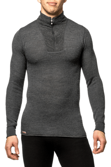 Woolpower - Zip Turtleneck 200 - Grey - Unisex