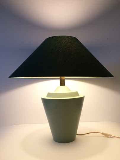 1970's Deco Mint Green Ceramic Table Lamp by Velsen, Holland