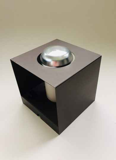 Vintage Design NWS 67 metal Cube Wall Lamp by Philips, 1970's