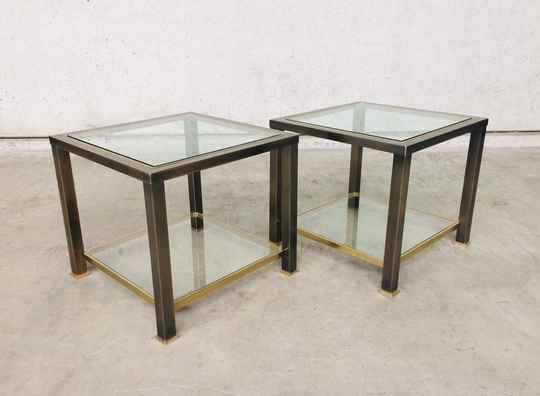 MCM Design Side Table set of 2 by Belgo Chrom 1980's