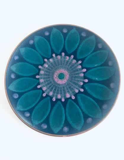 Midcentury Modern Ceramic Wall Plaque Plate 1970's Germany