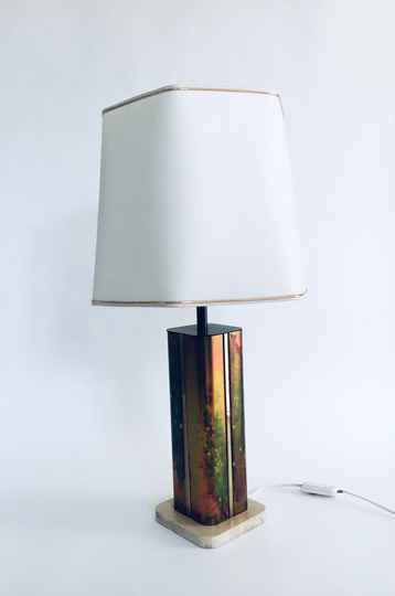 Hollywood Regency Style Design Table Lamp by Fedam, Holland 1970's
