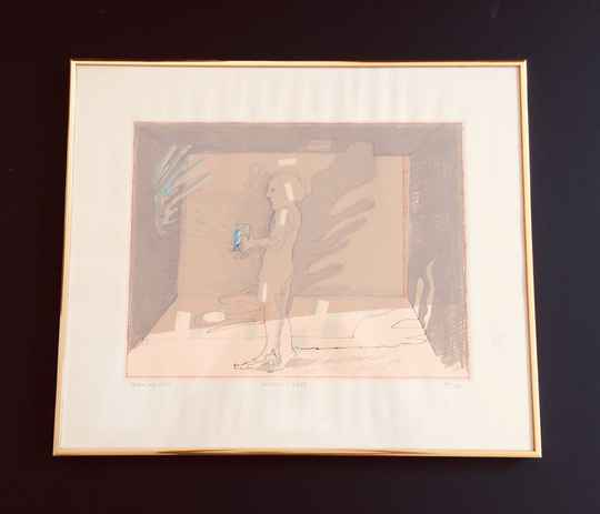 """Original Art Silk Screen Print """"Playing with Light"""" by Co Westerik 1980"""