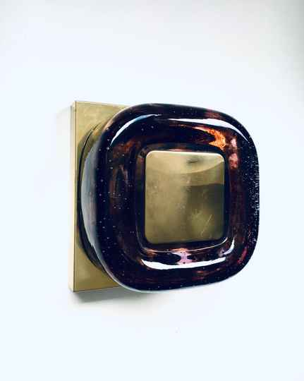 Wall Sconce Lamp Applique by Helena Tynell for Glashütte Limburg, Germany 1970's