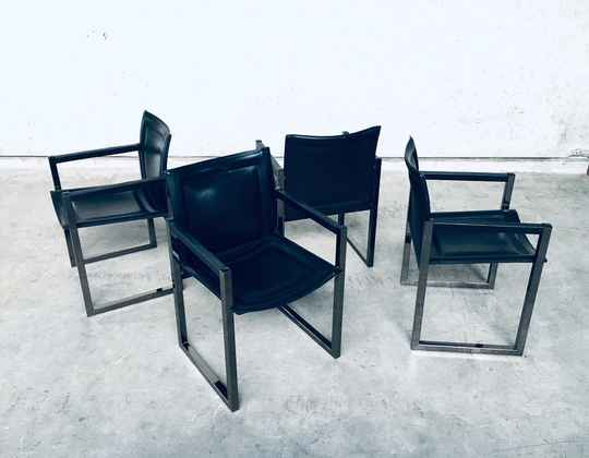 Postmodern Design set of 4 Chairs by Arrben, Italy 1980's