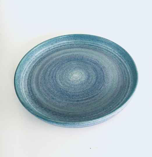 Studio Art Pottery Large Plate Dish by Mobach, Netherlands 1990's
