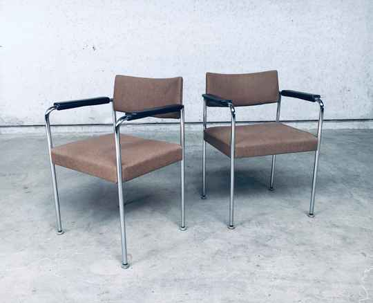 1970's Suisse Design Office Chair set by Martin Stoll