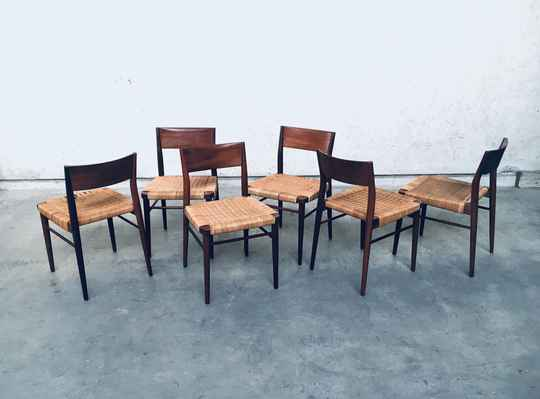 Set of 6 Dining Chairs by Georg Leowald for Wilkhahn 1955