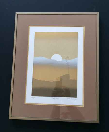 """Original Art Lithograph print """"Early Morn"""" by Cleave Cunningham 1980's"""