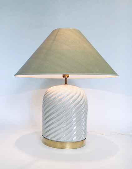 Hollywood Regency Style Design Table Lamp set by Tommaso Barbi, Italy 1970's