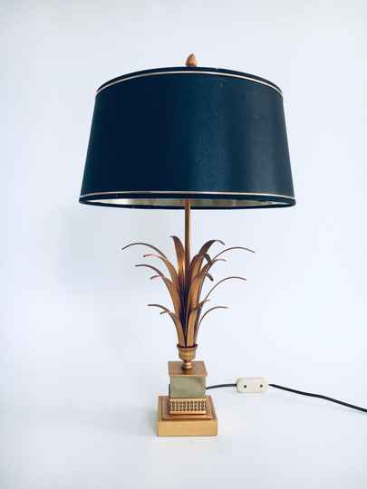 Hollywood Regency Style Design Palmier Table Lamp by SA Boulanger, Belgium 1970's