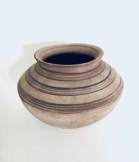 Handcrafted Pottery XL Container Pot, early 1900's Hungary