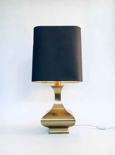 1970's Design Hollywood Regency Style Brass Table Lamp