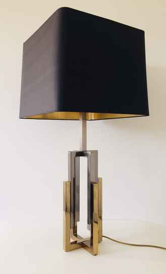 Hollywood Regency Willy Rizo Majestic 2 tone brass Table Lamp 1970's