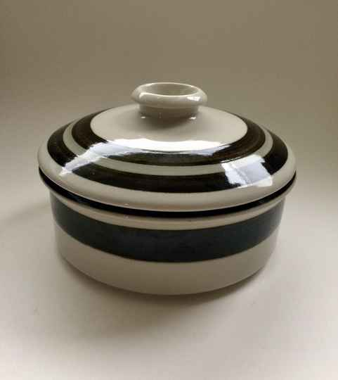 Vintage 1970's Design large Soup Dish with lid by Arabia Finland