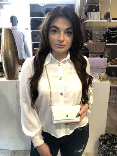 Blouse with bag white