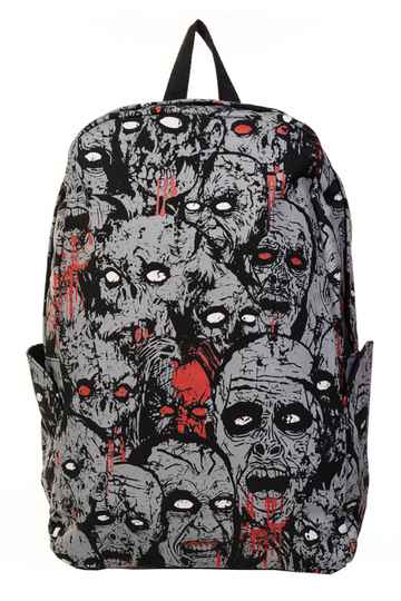 Banned Blak Grey Zombie Backpack