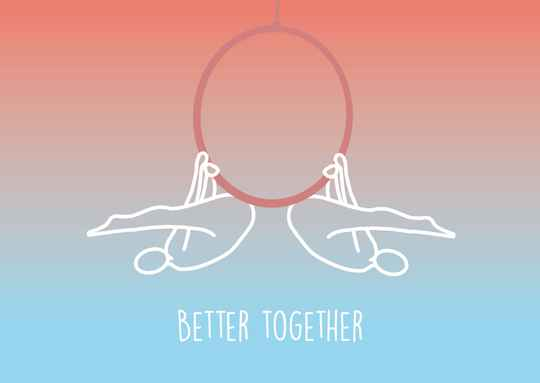 Better Together - Postcard - Ansichtkaart - A015