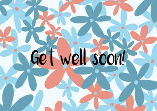 Get well soon - Postcard - Ansichtkaart - A020