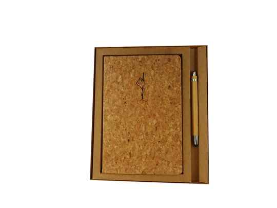 € 17,50 - Notebook A5 Cork with bamboo stylo - Pole - Eagle - giftset