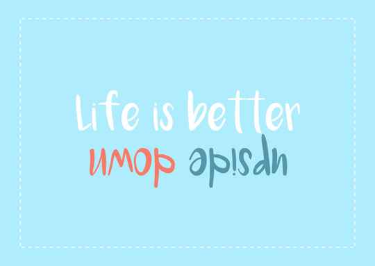 Life is better upside down - Postcard - Ansichtkaart - A013